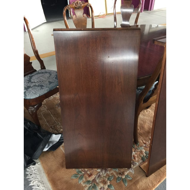 Brown Councill Dining Room Set Table & Chairs For Sale - Image 8 of 12