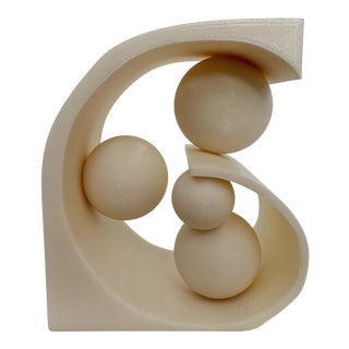 Vintage Resin Abstract Sculpture For Sale