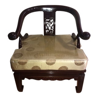 Antique Brown Wood Chair For Sale