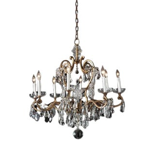 French Baques Crystal Chandelier For Sale