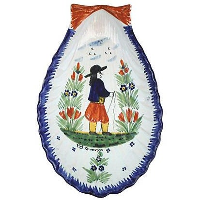 Quimper Antique French Shell Platter - Image 1 of 3