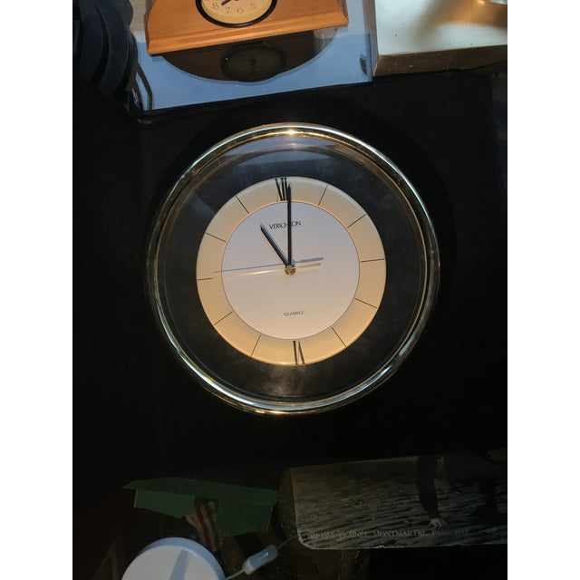 Vintage Memphis Lucite Modern Verichron Wall Clock For Sale - Image 4 of 5