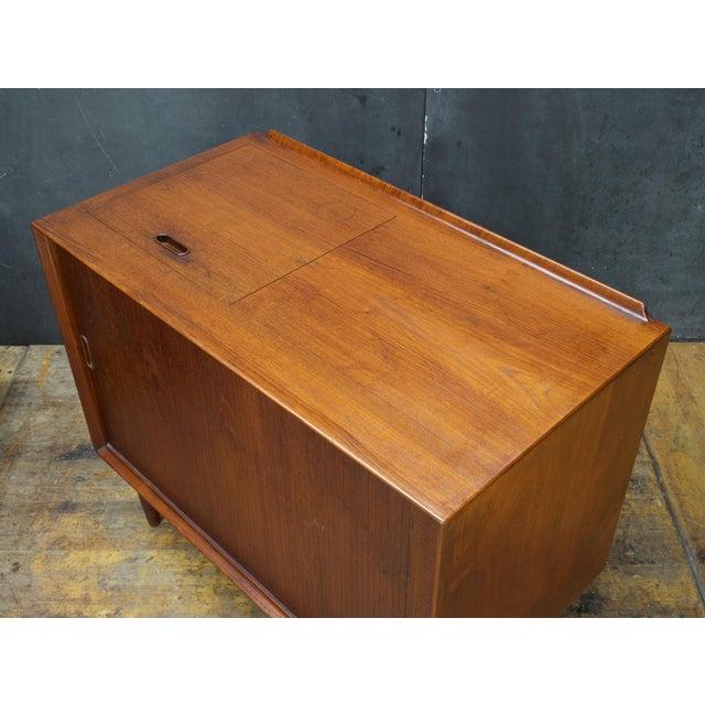 Arne Vodder Hifi Cabinet Teak Tambour Petite Stereo Credenza Danish Midcentury For Sale In Washington DC - Image 6 of 10