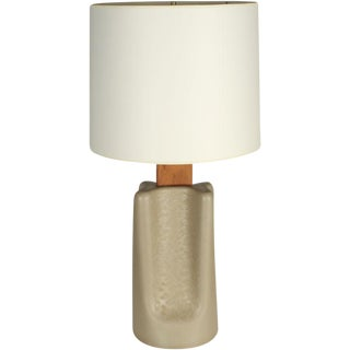 "Gordon Martz Broad ""Pinched"" Ceramic Table Lamp For Sale"
