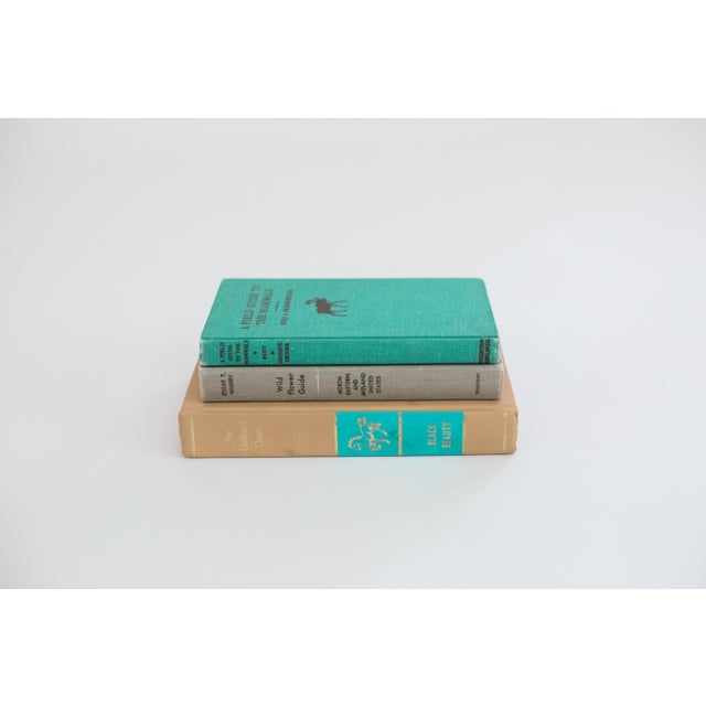 Turquoise and Tan Set of Vintage Books - 3 - Image 3 of 4