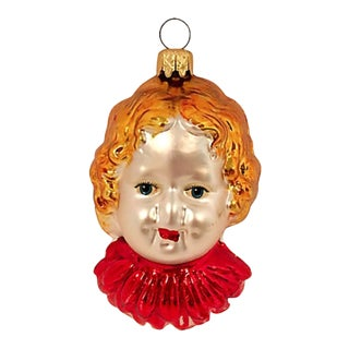 German Blown Glass Strawberry Blonde Ornament For Sale