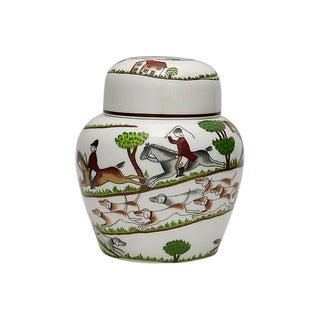 Coalport Hunting Scene Ginger / Tea Jar For Sale