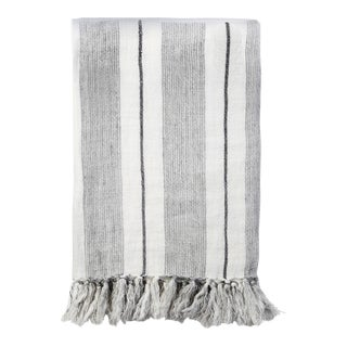 Laguna Throw in Gray and Charcoal For Sale
