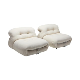 Cassina 'Soriana' Pair of Lounge Chairs by Afra and Tobia Scarpa - 1970s For Sale