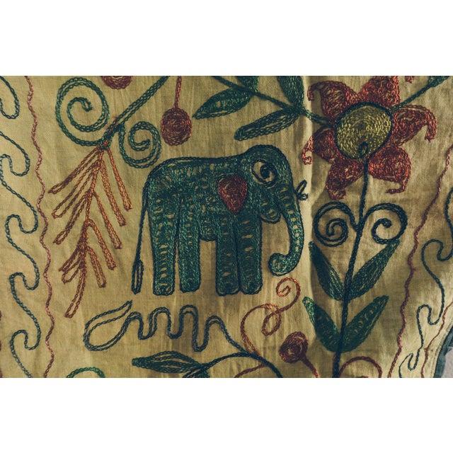 Vintage Green Handmade Indian Toran Door Valance For Sale - Image 9 of 10