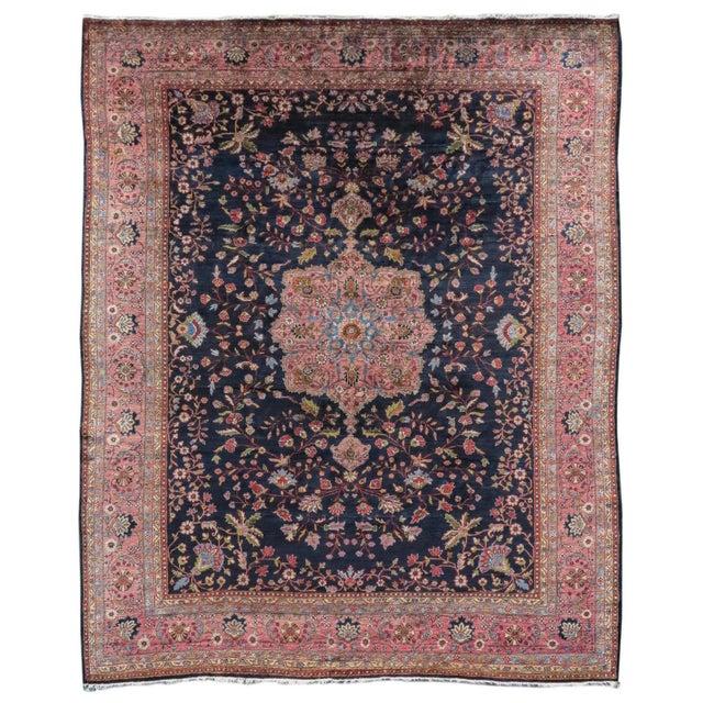 Islamic Sarouk Persian Rug - 9′ × 11′3″ For Sale - Image 3 of 3