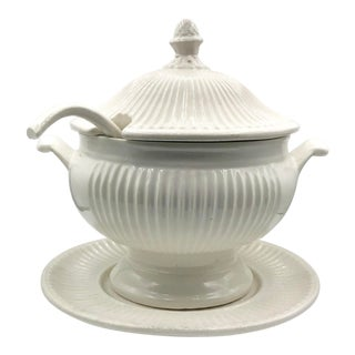 Early 20th Century California Pottery Creameware Soup Tureen For Sale