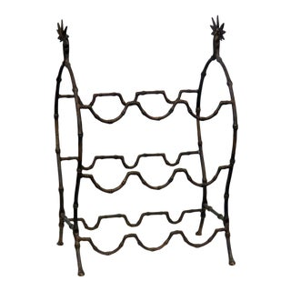 French Faux Bamboo Wine Rack For Sale