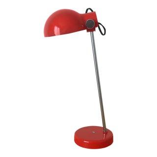 1960s Mid Century Modern Lightolier Red Plastic Desk Lamp For Sale