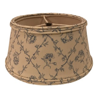 Toile Handmade Lampshade With Silk Lining For Sale