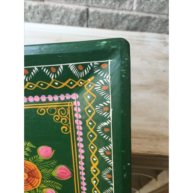 Antique Hand-Painted Spanish Folk Art Tray - Image 9 of 11