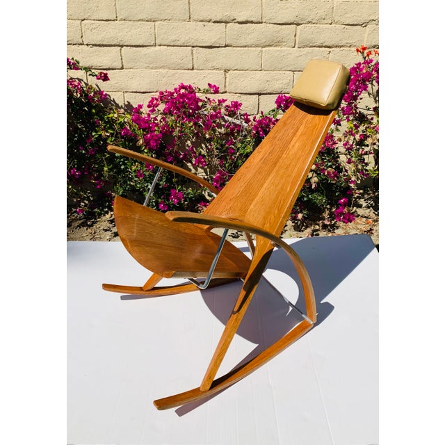 Danish Modern Mid Century Modern Leon Meyer Sculptural Rocking Chair For Sale - Image 3 of 13