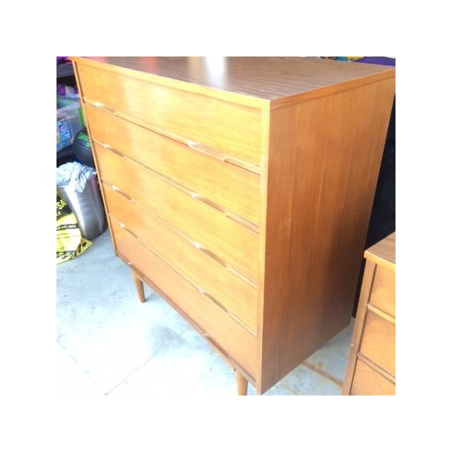 Mid-Century Modern Highboy Chest of Drawers - Image 3 of 7