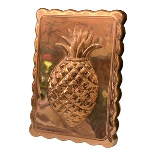 Copper Pineapple Wall Decor For Sale