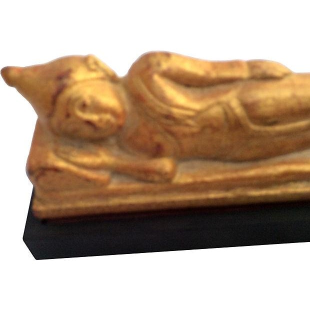 Religious Burmese Reclining Buddha For Sale - Image 3 of 4