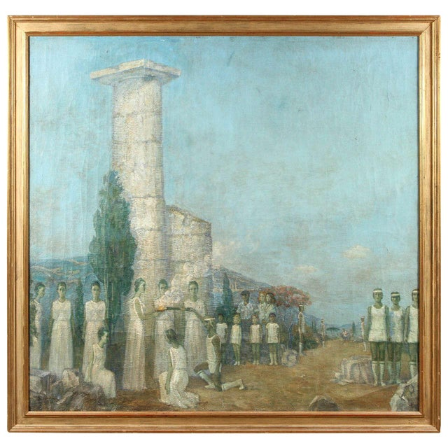 Large Ukranian Oil on Canvas by Mikhail Dmitrievich Todorov For Sale