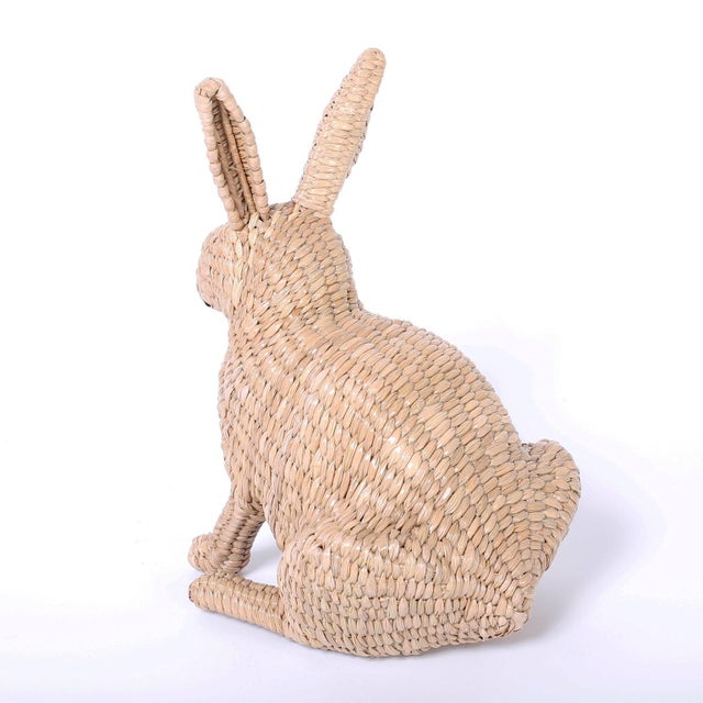 Early 21st Century Mario Torres Wicker Bunny For Sale - Image 5 of 7