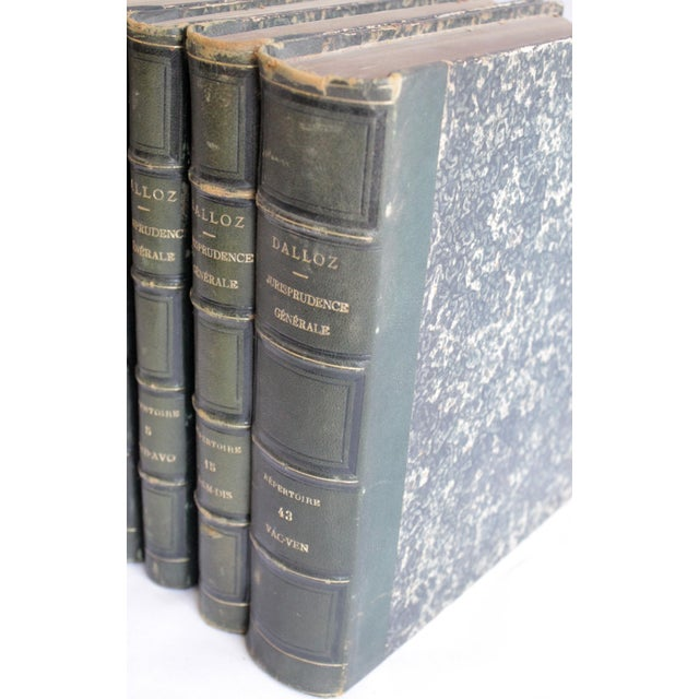 19th Century Antique Leather Bound Books Dalloz Jurisprudence - Set of 4 For Sale - Image 4 of 7
