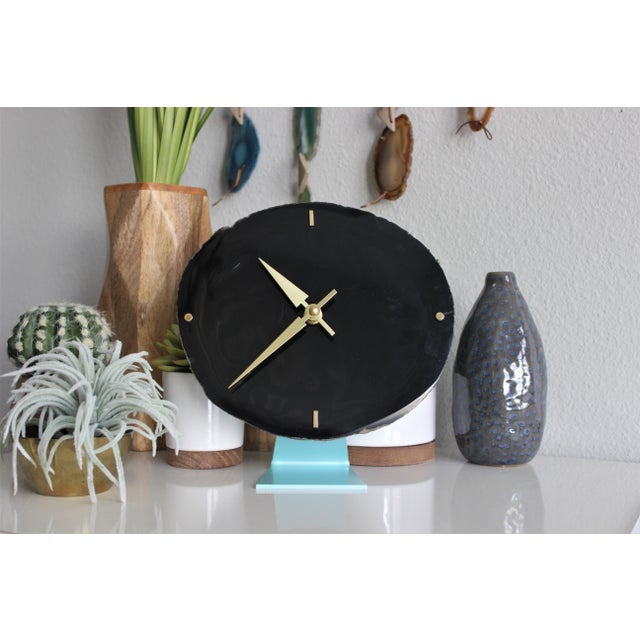 Agate Slice Black Desk Clock - Image 4 of 7