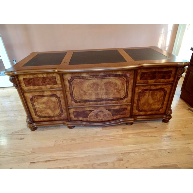 Beautiful solid wood office desk with Italian style details.