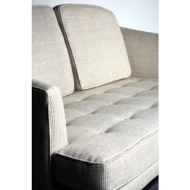Edward Wormley for Dunbar Settee With Mahogany Base, Circa 1956 For Sale In Detroit - Image 6 of 10