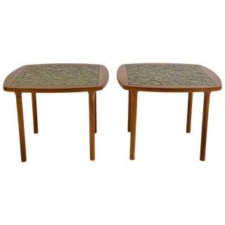 Pair of Ceramic Tile-Top Side Tables by Gordon and Jane Martz For Sale