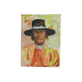 Eliot Freedman Native American Portrait Oil Painting
