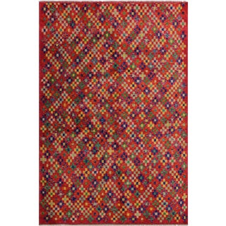 Contemporary Balouchi Alessand Pink/Blue Wool Rug - 4'10 X 6'2 For Sale