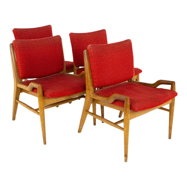 John Keal for Brown Saltman Mid Century Mahogany Dining Chairs - Set of 4 For Sale