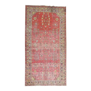 Antique Distressed Khotan Gallery Rug, 6'4'' x 12'8'' For Sale