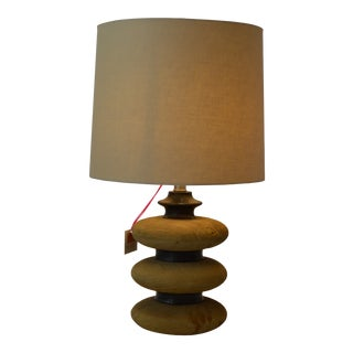 Three Tier Wood Lamp For Sale
