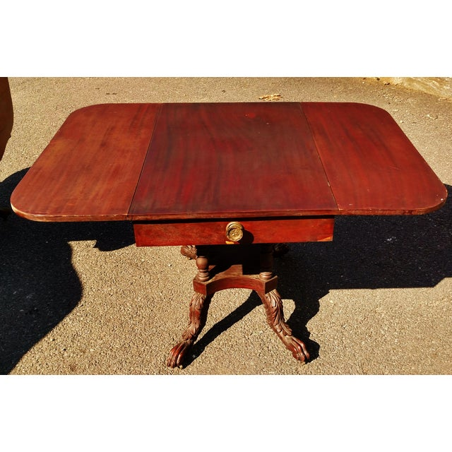 Antique American 19th C Drop-Leaf Table For Sale - Image 4 of 6
