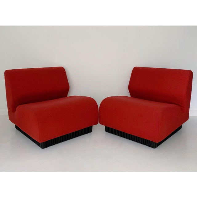 Textile 1970's Vintage Don Chadwick for Herman Miller Modular Lounge Chairs - a Pair For Sale - Image 7 of 7
