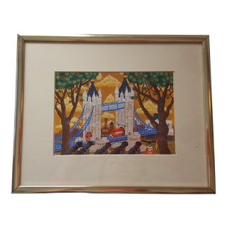 London Bridge Framed Art Illustration Print