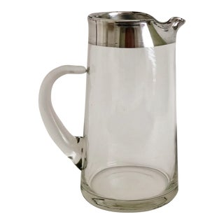Dorothy Thorpe Silver Rimmed Pitcher For Sale