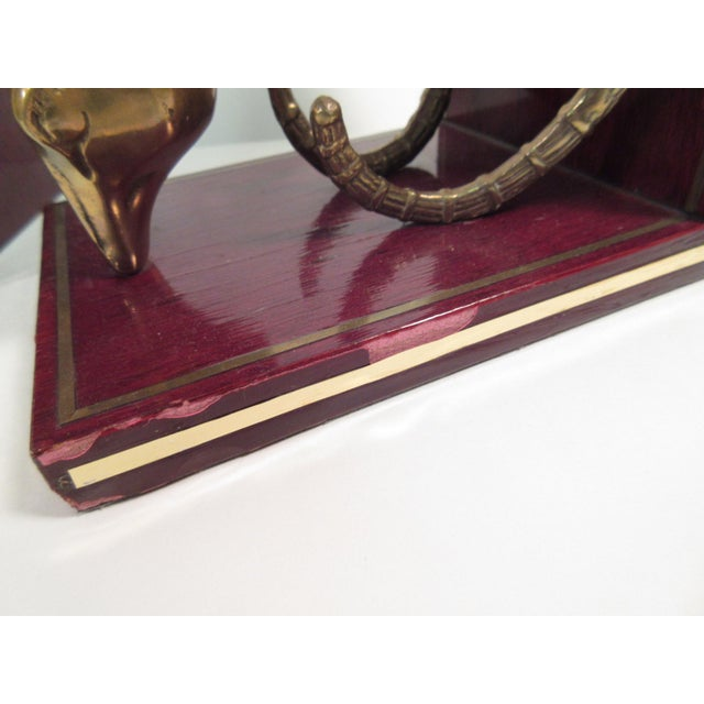 Vintage Ibex Brass Bookends - A Pair - Image 7 of 8