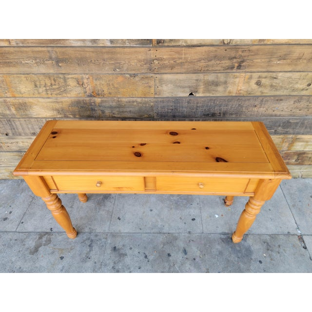 1980s Rustic Console Table with Drawers For Sale - Image 11 of 13