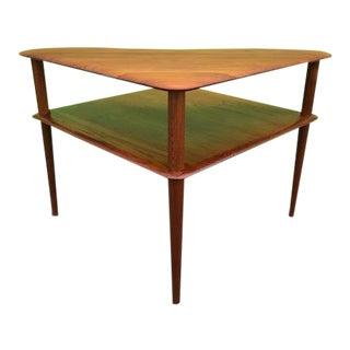 1950s Mid-Century Modern Peter Hvidt & Orla Mølgaard-Nielsen 'Minerva' Side Corner Table For Sale