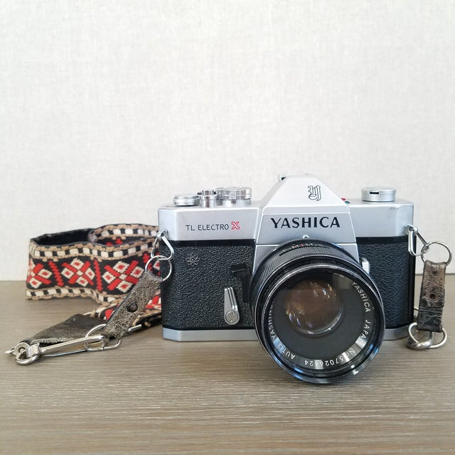 Vintage Yashica Camera with Strap For Sale - Image 9 of 9