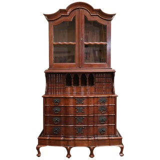 19th Century Asian Superbly Crafted Solid Nedun Wood Secretary Desk For Sale