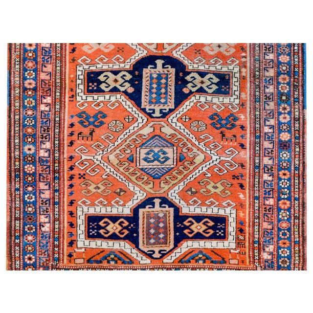 Persian Wonderful Early 20th Century Kazak Prayer Rug For Sale - Image 3 of 10