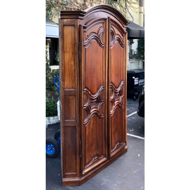 French Country 18th C French Country Armoire Corner Cabinet For Sale - Image 3 of 6