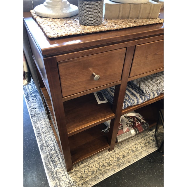 Arts and Crafts Sunset Hills Collection Borkholder Cherry Console Table For Sale - Image 9 of 10