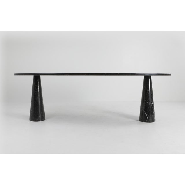 Angelo Mangiarotti 1970s Mangiarotti Black Marble Dining Table for Skipper For Sale - Image 4 of 12