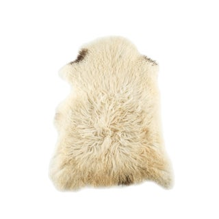 "Contemporary Long Soft Wool Sheepskin Pelt - 2'4""x3'4"" For Sale"